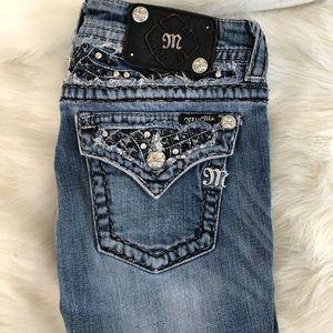 Miss Me jeans boot cut 27 studded flap pocket